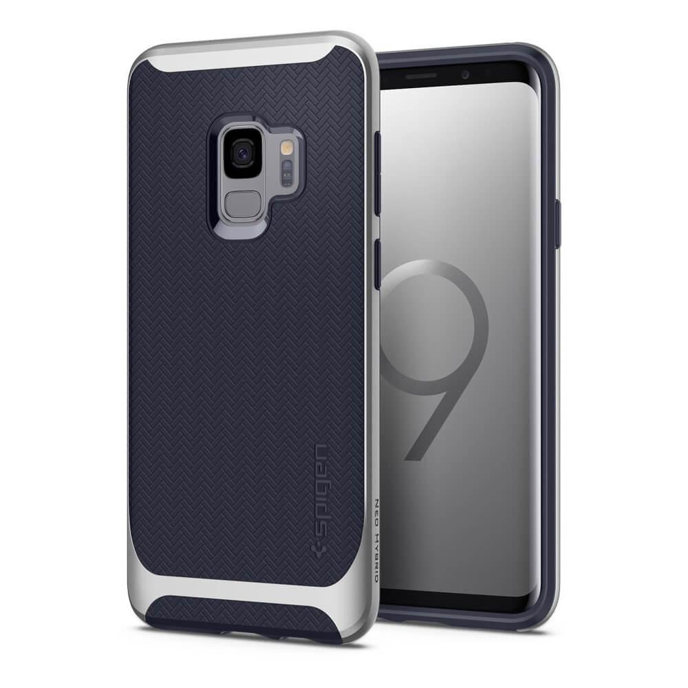 Spigen Neo Hybrid Case - хибриден кейс с висока степен на защита за Samsung Galaxy S9 (син)