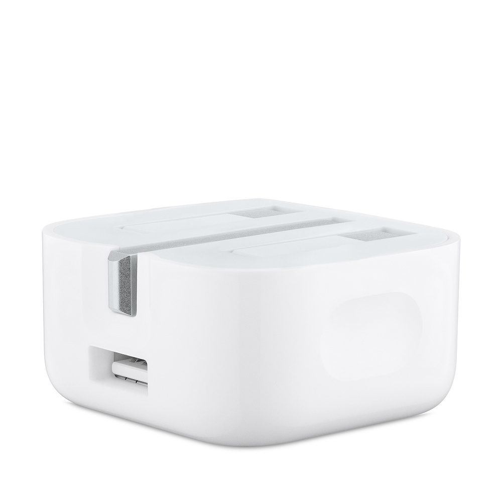 Apple USB Power Adapter 5W Folding Pins - оригинално сгъваемо захранване с USB изход за Apple Watch и смартфони (UK стандарт) (reconditioned) (bulk)