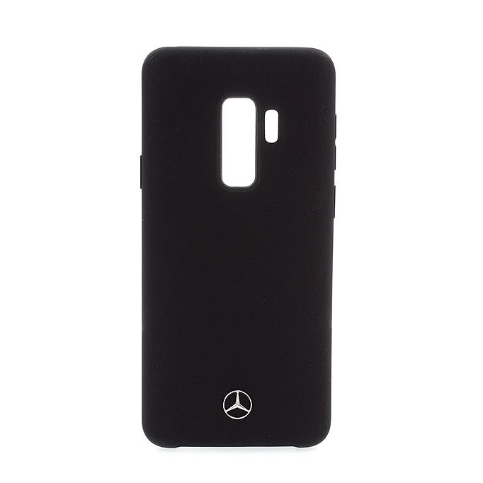Mercedes-Benz Liquid Silicone Case for Samsung Galaxy S9 Plus (black)