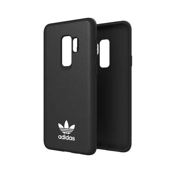 Adidas Originals New Basics Hard Case - кожен кейс за Samsung Galaxy S9 Plus (черен)