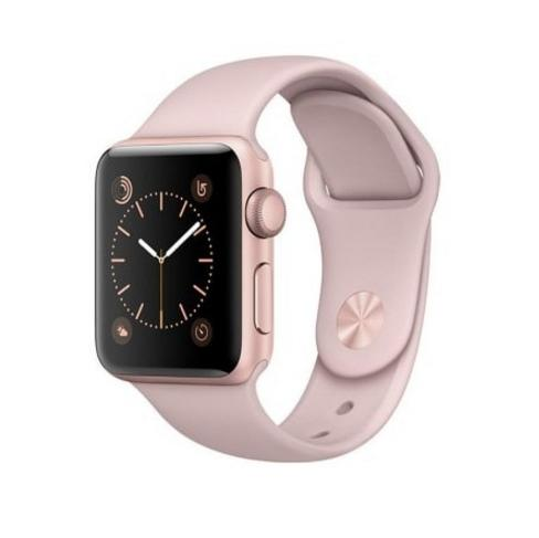 Apple Sport Band S/M & M/L - оригинална силиконова каишка за Apple Watch 42мм, 44мм (бледа роза) (Apple Box)
