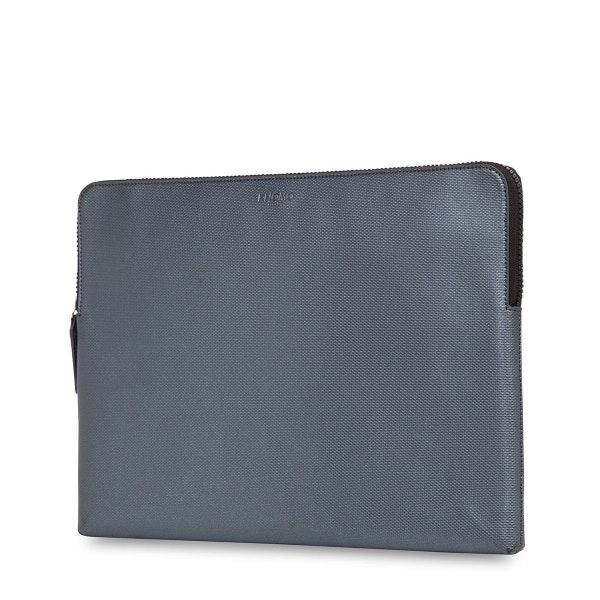 Knomo Laptop Leather Embossed Sleeve 15 (silver)