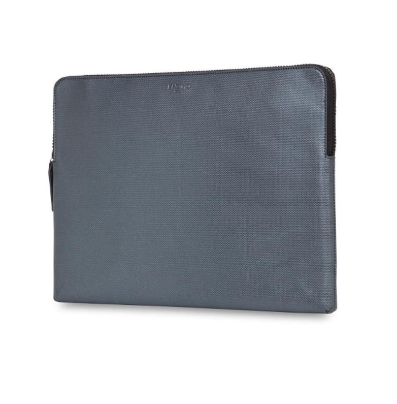 Knomo Laptop Leather Embossed Sleeve 13 (silver)