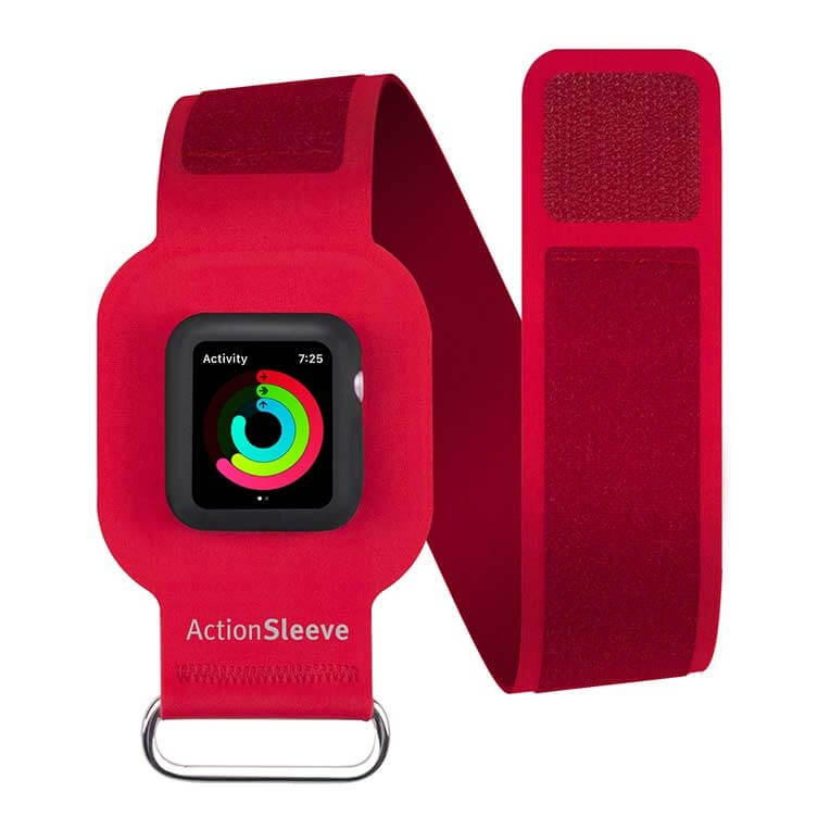 TwelveSouth ActionSleeve armband for Apple Watch 42mm, 44mm(red)