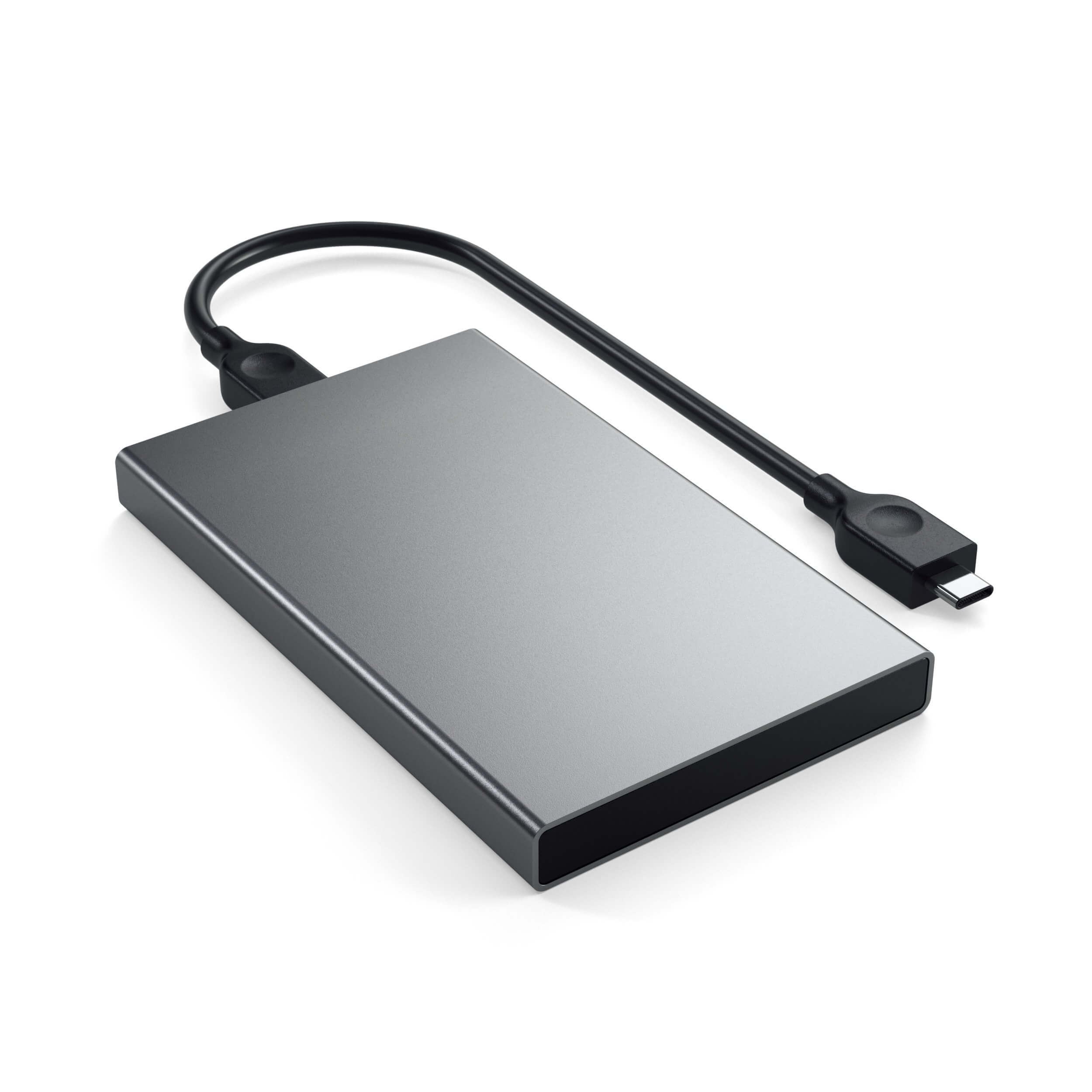 Satechi USB-C HDD/SSD Aluminum Enclosure - външна кутия с USB-C за 2.5 инчови HDD/SSD дискове (тъмносив)