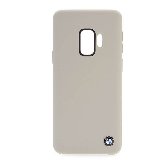 BMW Signature Silicone Hard Case - твърд силиконов кейс за Samsung Galaxy S9 (бежов)