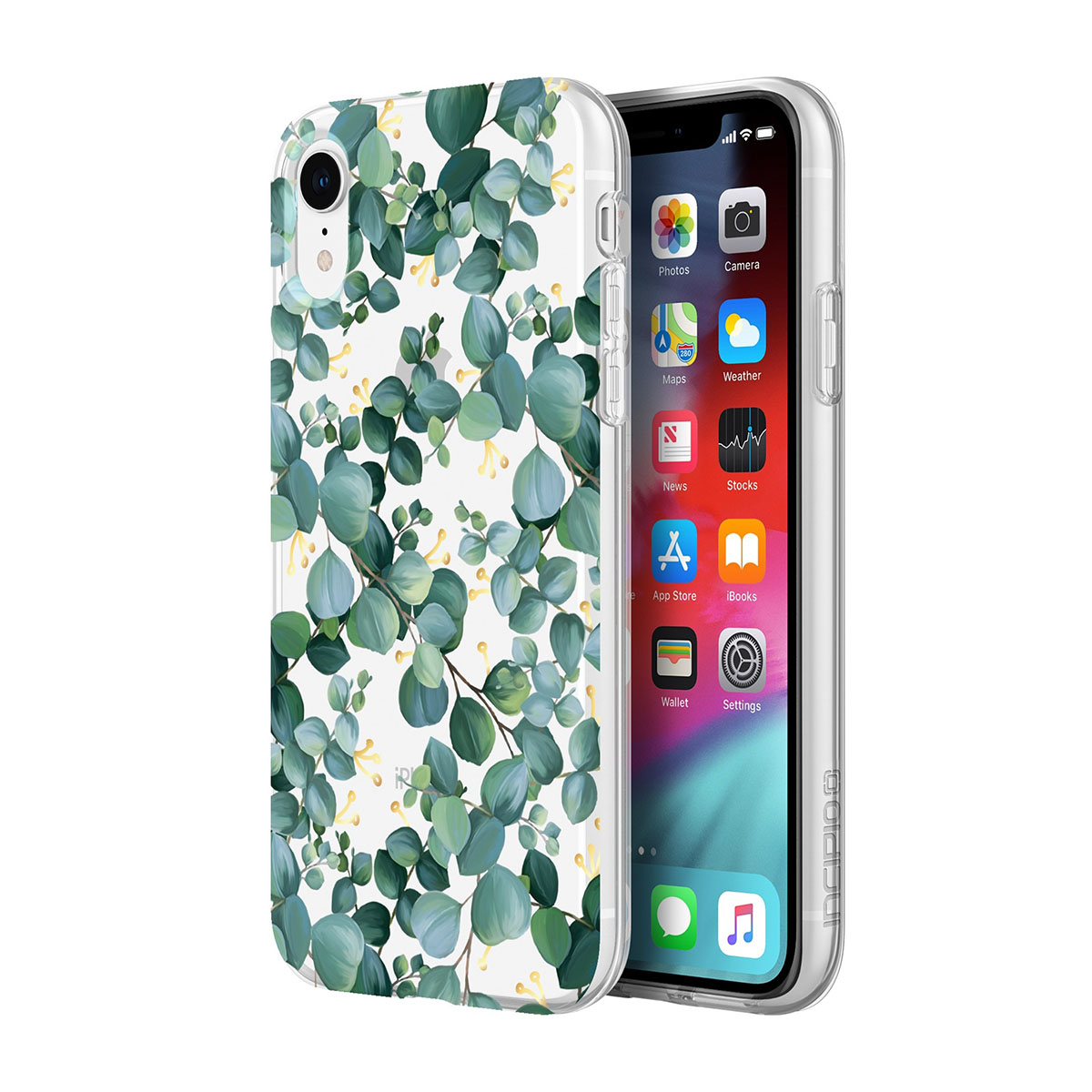 new product cfb7a 77e2b Incipio Classic Case Design Series - дизайнерски поликарбонатов кейс за  iPhone XR (евкалипт)