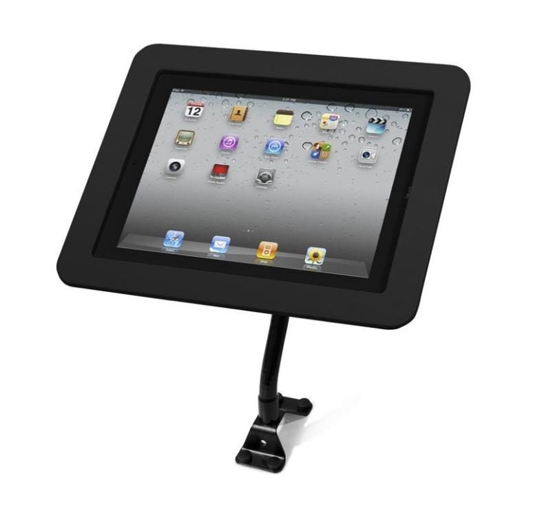 Maclocks Flex Arm Executive Enclosure for iPad 2 / 3 / 4 / Air/Air 2 | Open Home Button | black