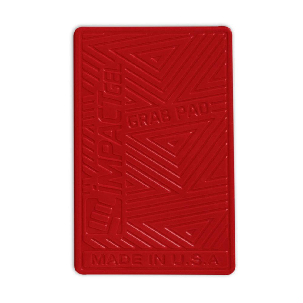 Impact Gel Grab Pad - лепяща се силиконова поставка за табло и гладки повърхности за мобилни телефони (червен)