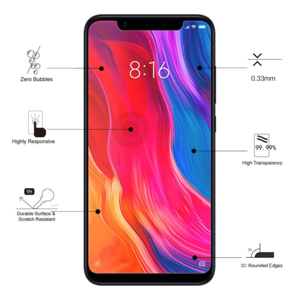 ... 5 Eiger Tempered Glass Protector 2.5D for Xiaomi Mi 8 6 ...