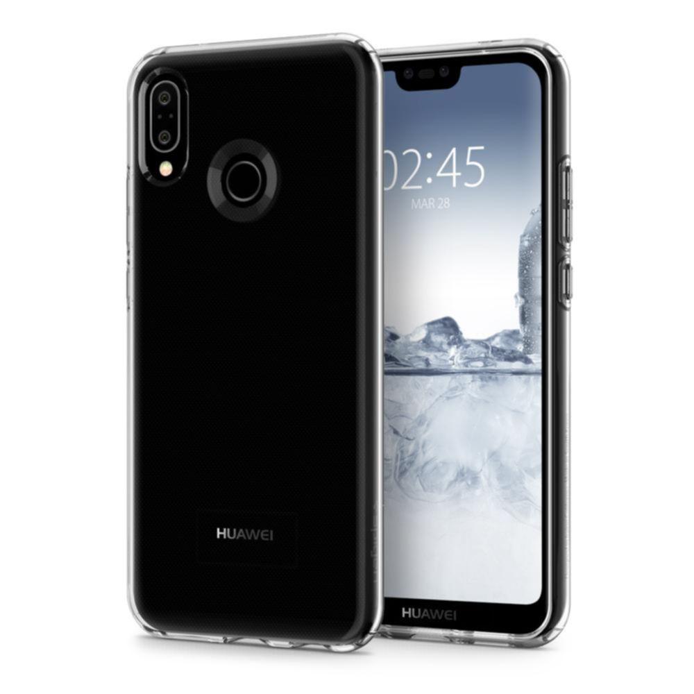 Spigen Liquid Crystal Case - тънък силикнов (TPU) калъф за Huawei P20 Lite (прозрачен)