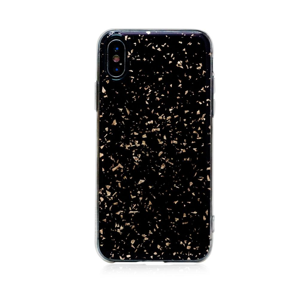 Bling My Thing Chic TPU Onyx Gold силиконов (TPU) калъф за iPhone XS, iPhone X (черен)