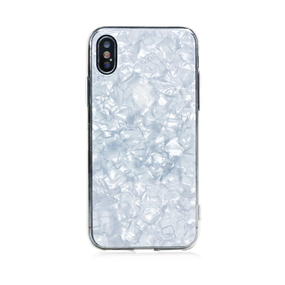 Bling My Thing Chic TPU Pearl White - силиконов (TPU) калъф за iPhone XS, iPhone X (бял)