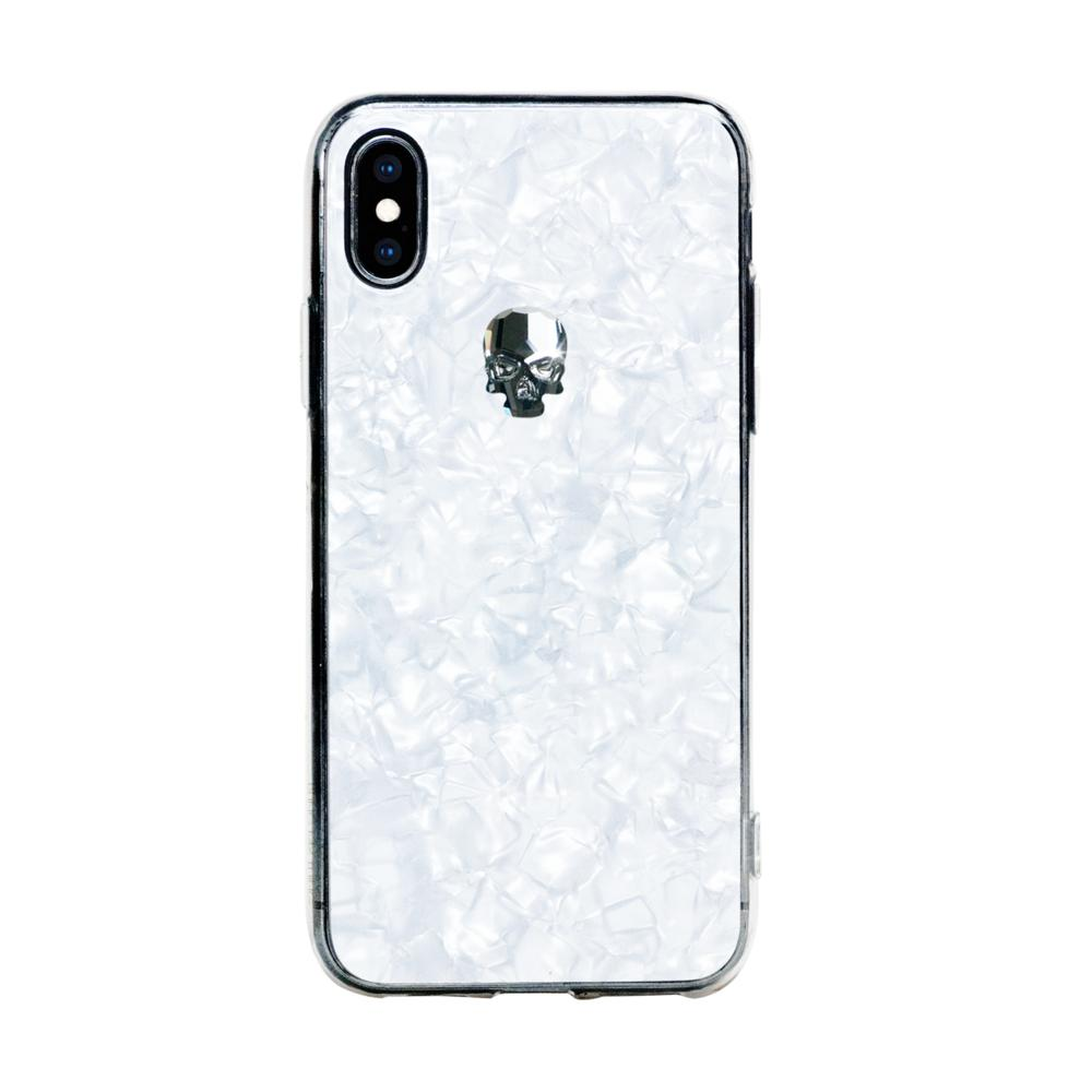 new product dc0c4 ce227 Bling My Thing TPU Treasure Silver Skull Swarovski - силиконов (TPU) калъф  с череп от кристали Сваровски за ...