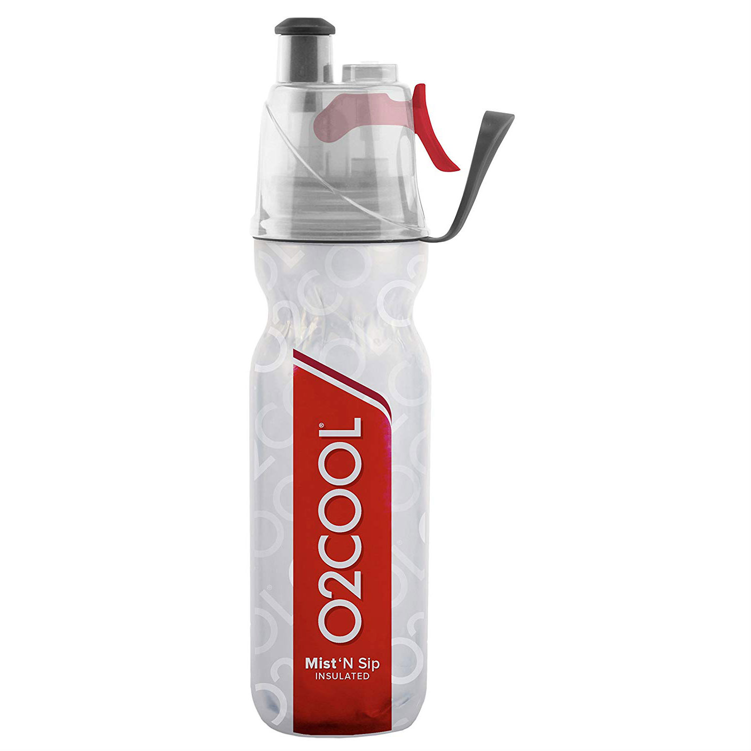 O2COOL ArcticSqueeze Mist 'N Sip- red