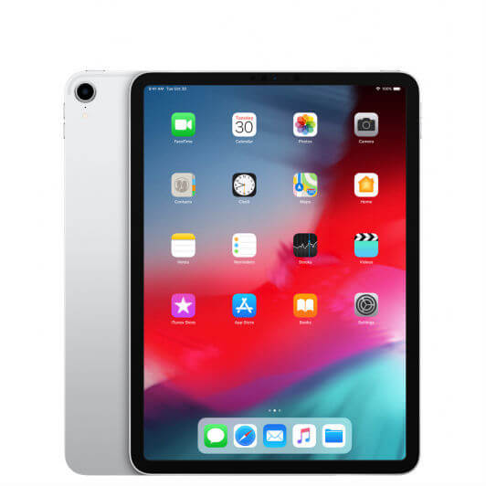 Apple iPad Pro 11 (2018) Cellular, 512GB, 11 инча, Face ID (сребрист)
