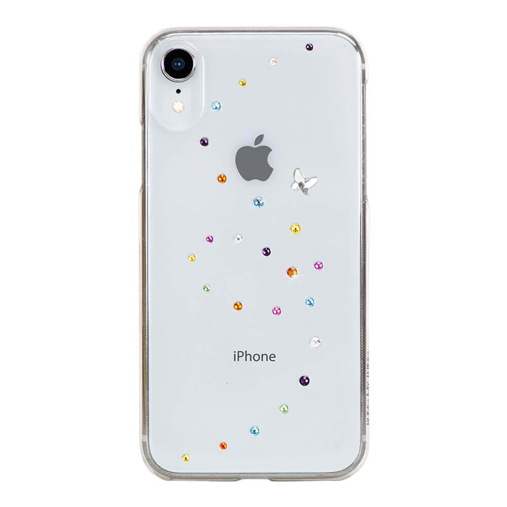 Bling My Thing Papillon Cotton Candy Swarovski - поликарбонатов кейс с кристали Сваровски за iPhone XR (прозрачен)