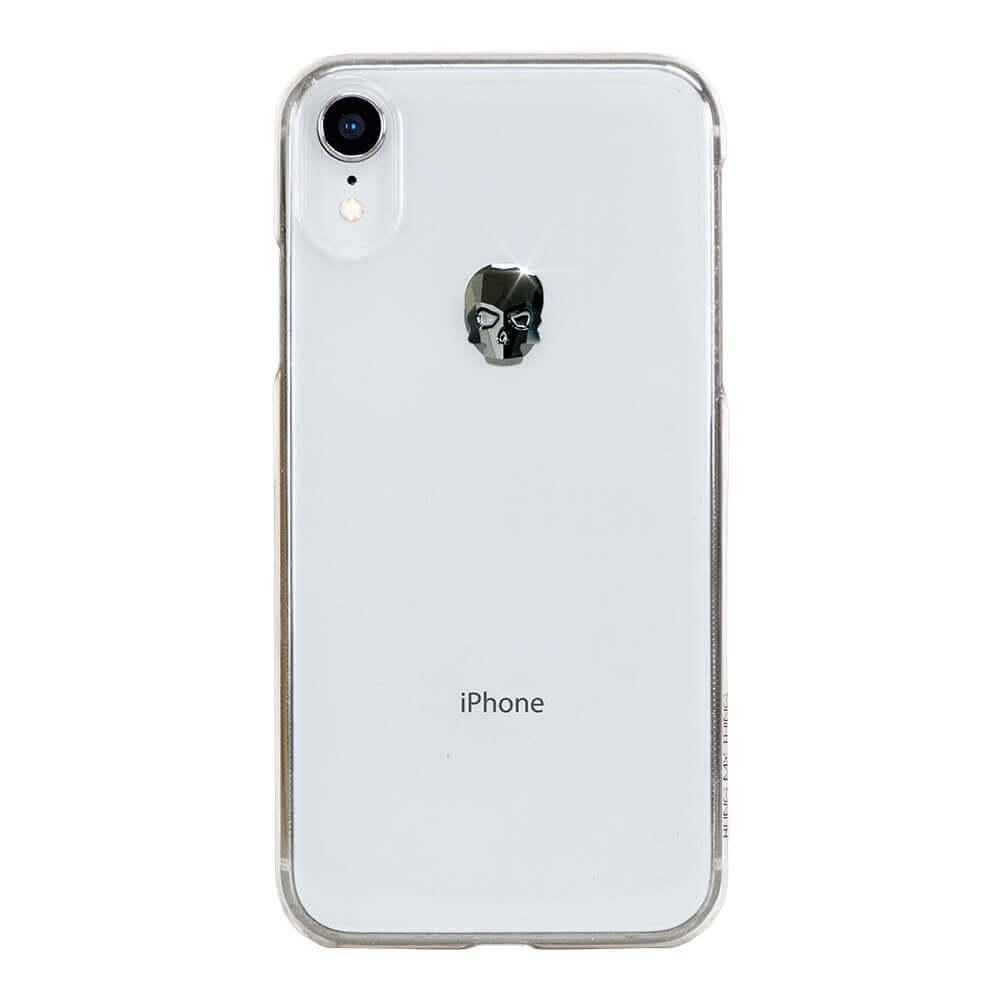 Bling My Thing Treasure Jet Skull Swarovski - поликарбонатов кейс с кристали Сваровски за iPhone XR (прозрачен)
