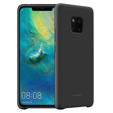 Huawei Silicone Cover Case - оригинален силиконов (TPU) калъф за Huawei Mate 20 Pro (черен)