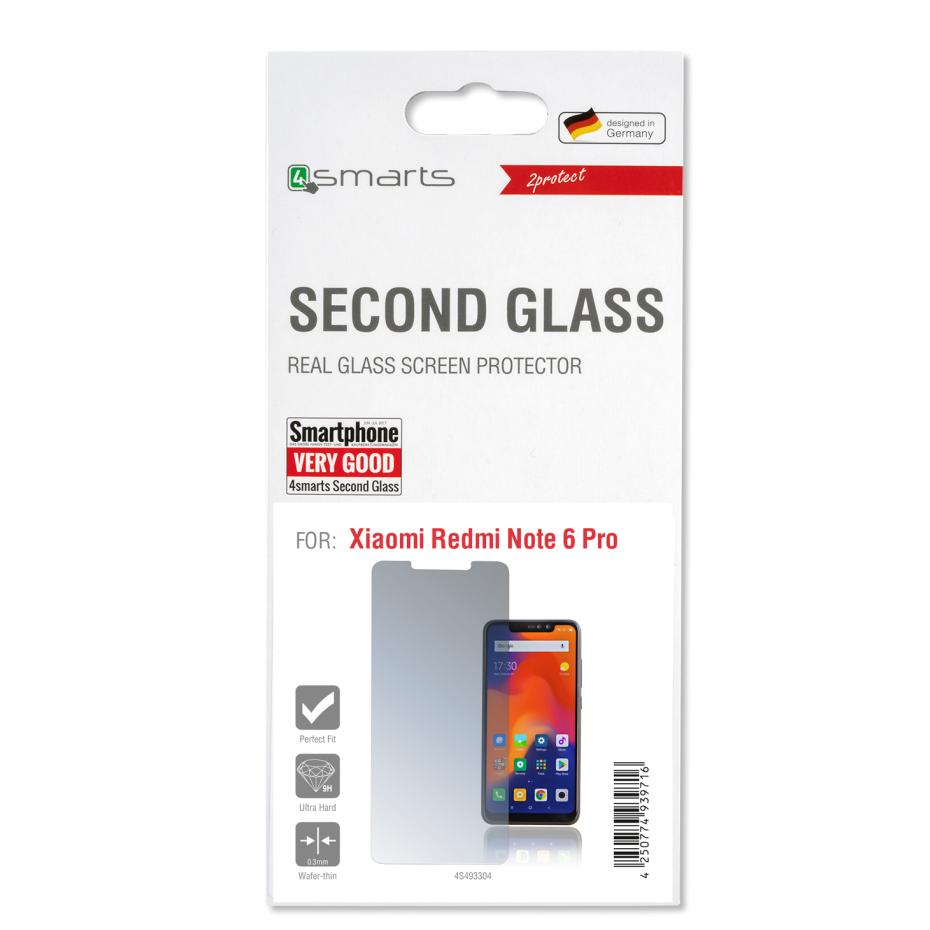 4smarts Second Glass Limited Cover For Xiaomi Redmi Note 6 Pro Tempered 03mm 2 Transparent 3