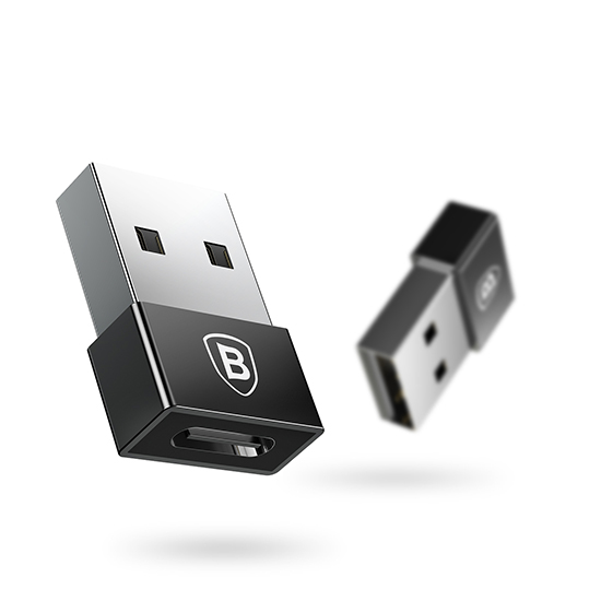 Baseus Exquisite USB Male To USB-C Female Adapter Converter A01 (black)