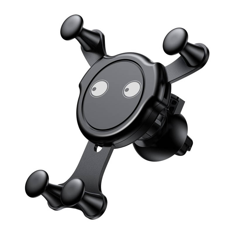 Baseus Emoticon Gravity Car Mount - поставка за радиатора на кола за смартфони с дисплеи до 6 инча (черна)