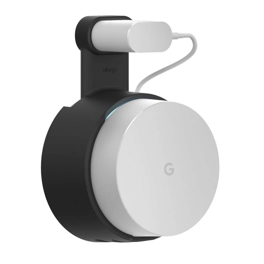 Elago Google WiFi Outlet Wall Mount - силиконова поставка за Google WiFi (черна)