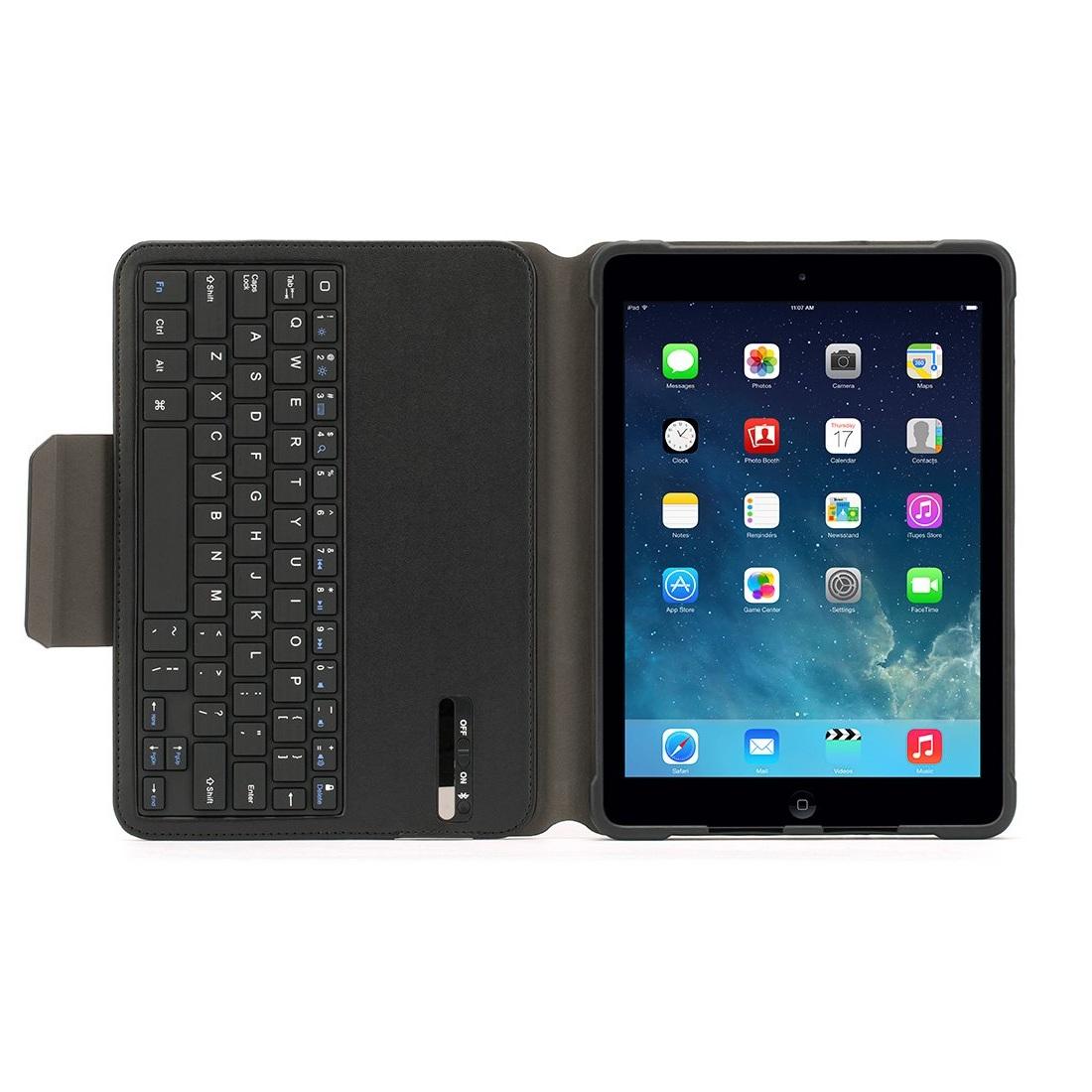 Griffin Turnfolio Keyboard Case - безжична клавиатура (отделяща се), кейс и поставка за iPad Air 2