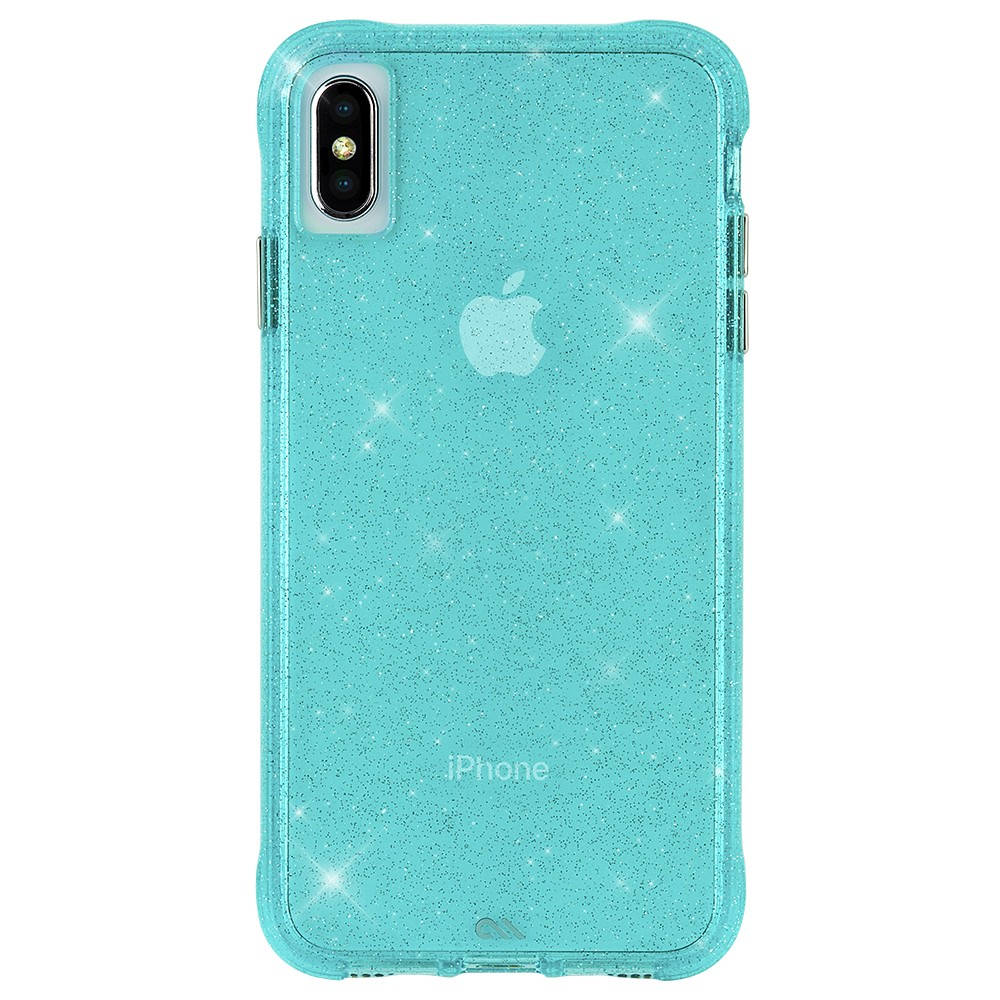 CaseMate Sheer Crystal Case - кейс с висока защита за iPhone XS, iPhone X (син)