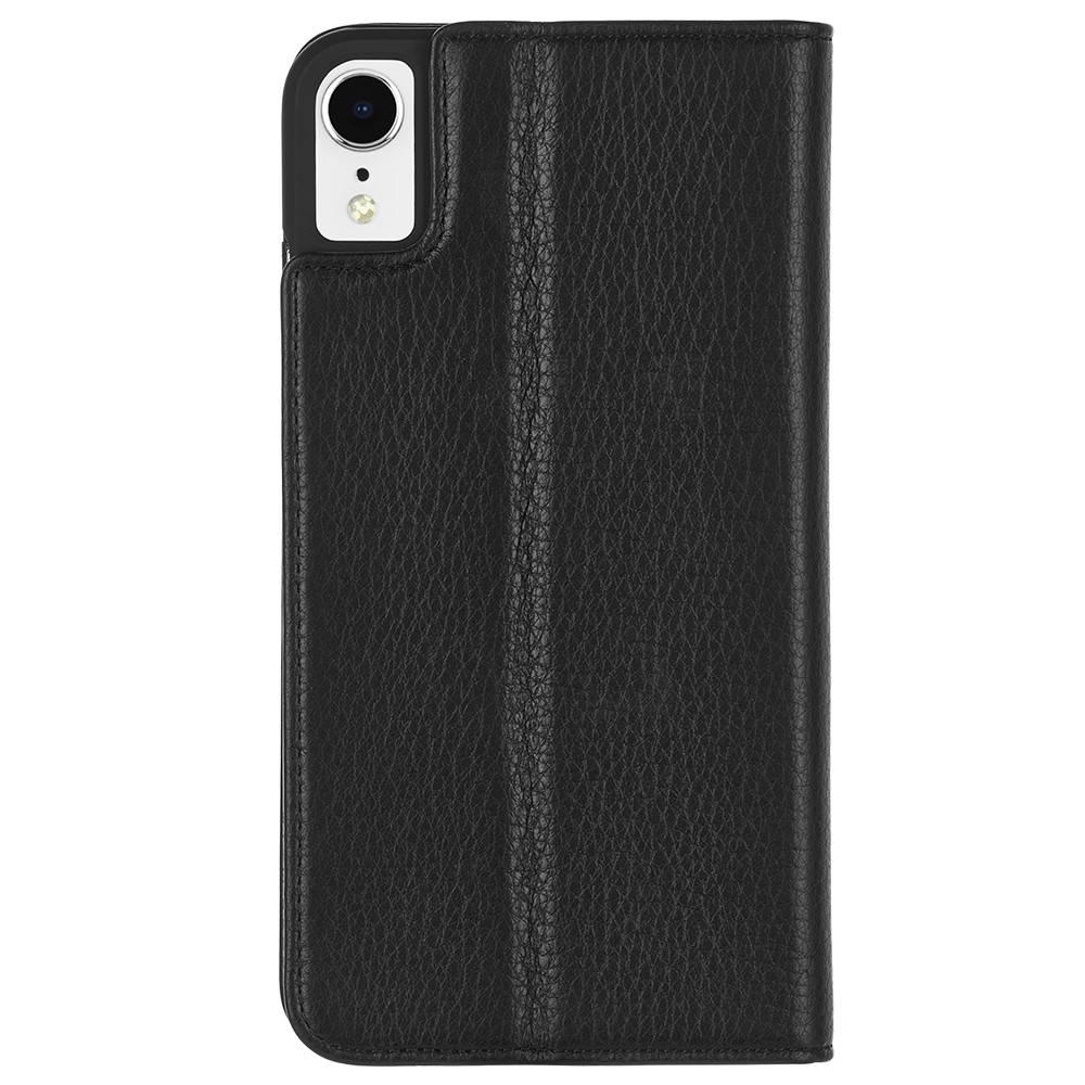 CaseMate Barely There Folio Case - кожен калъф, тип портфейл за iPhone XR (черен)