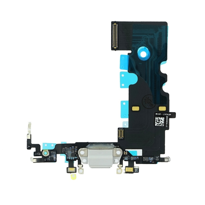 OEM iPhone 8 System Connector and Flex Cable - резервен захранващ (Lightning) лентов кабел/порт за iPhone 8 (сребрист)