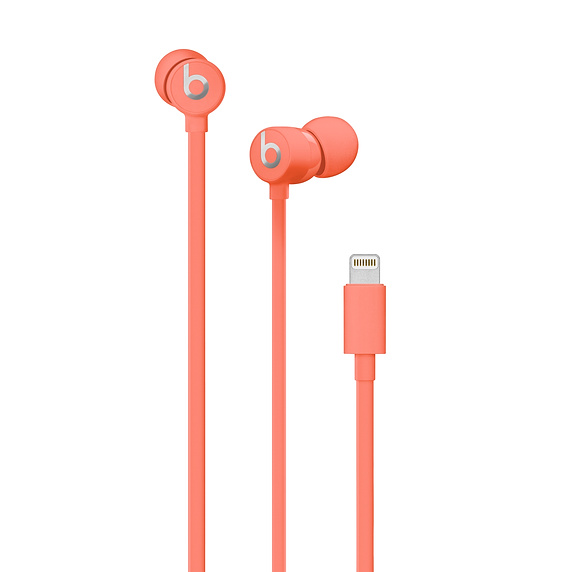 Beats urBeats3 Earphones with Lightning Connector - слушалки с микрофон за iPhone, iPod, iPad и устройства с Lightning конектор (оранжев)