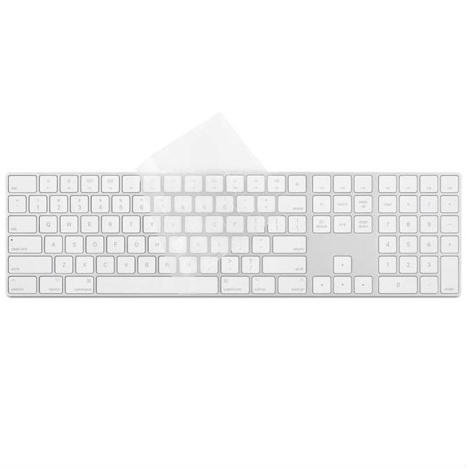 Moshi ClearGuard MK Keyboard Protector - силиконов протектор за Apple Magic Keyboard with Numeric Keypad (прозрачен) (US layout)
