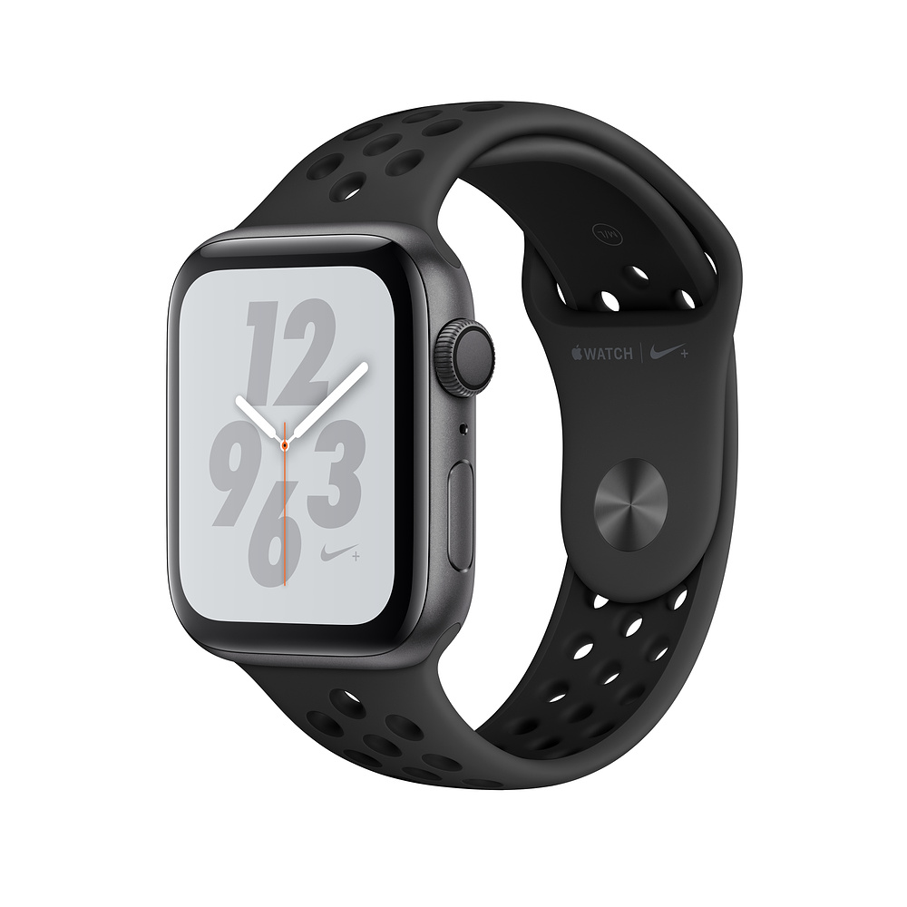 Apple Watch Nike+ Series 4, 44mm Space Gray Aluminum Case with Anthracite/Black Nike Sport Band, GPS - умен часовник от Apple