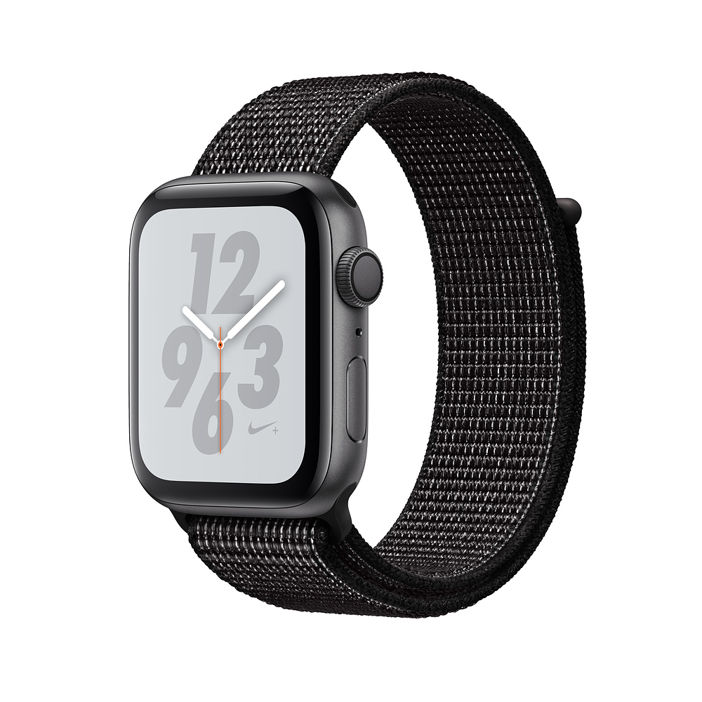 Apple Watch Nike+ Series 4, 40mm Space Gray Aluminum Case with Black Nike Sport Loop, GPS + Cellular - умен часовник от Apple