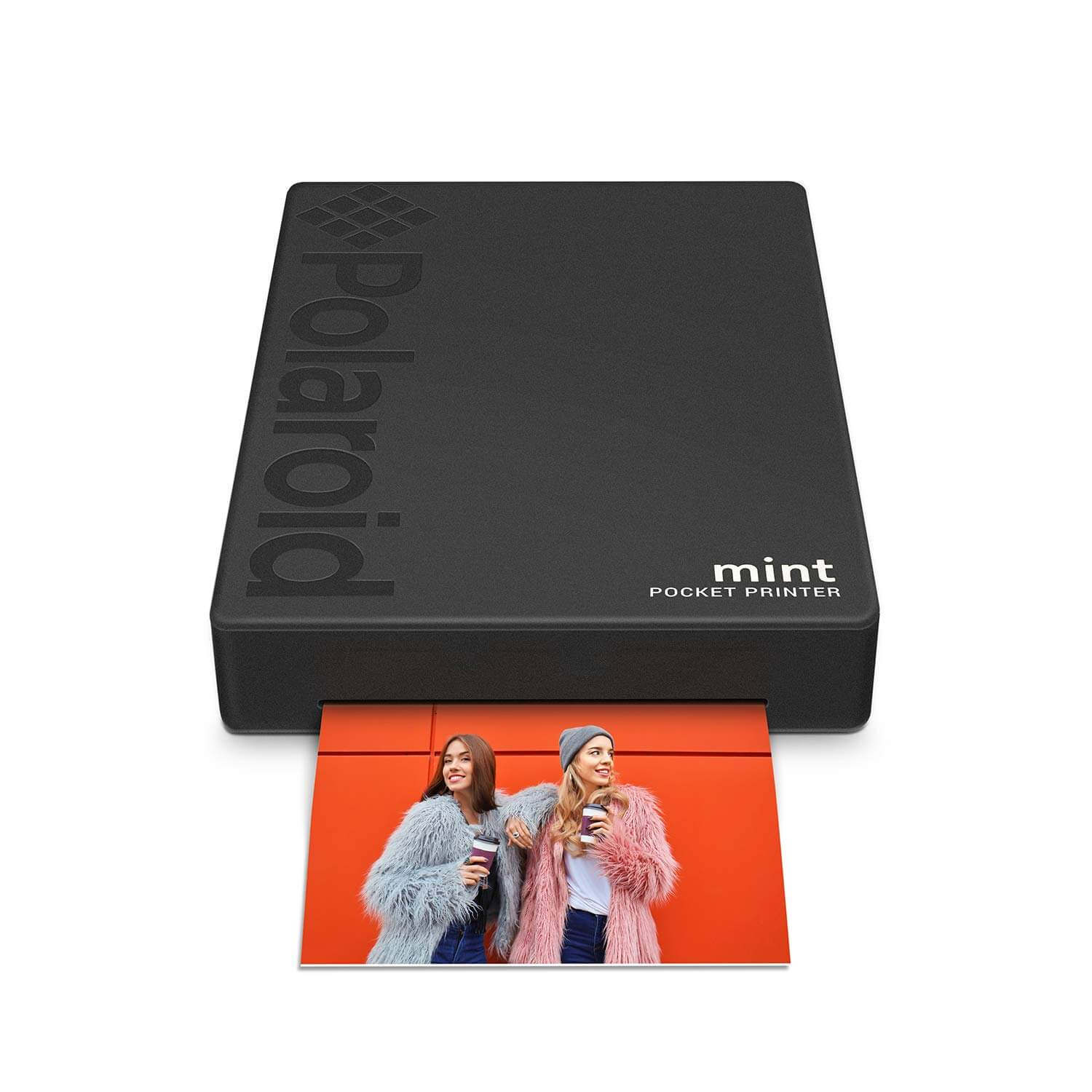 Polaroid Mint Pocket Printer Zink Zero Ink Technology with Built-In Bluetooth for Android & iOS Devices (black)