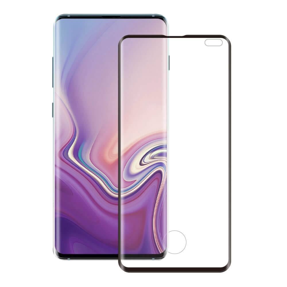 Eiger 3D Glass Edge to Edge Full Screen Tempered Glass for Samsung Galaxy S10 Plus (black-clear)