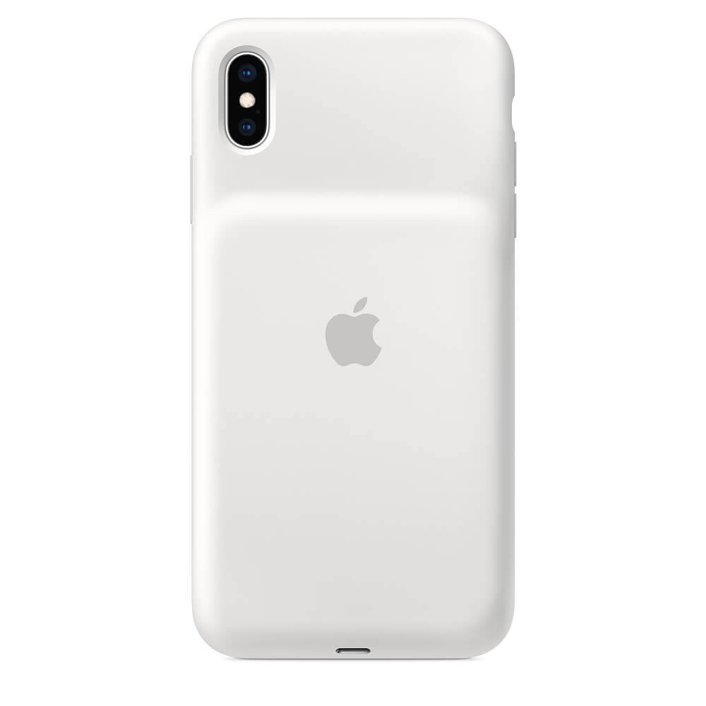 Apple Smart Battery Case - оригинален кейс с вградена батерия за iPhone XS Max (бял)