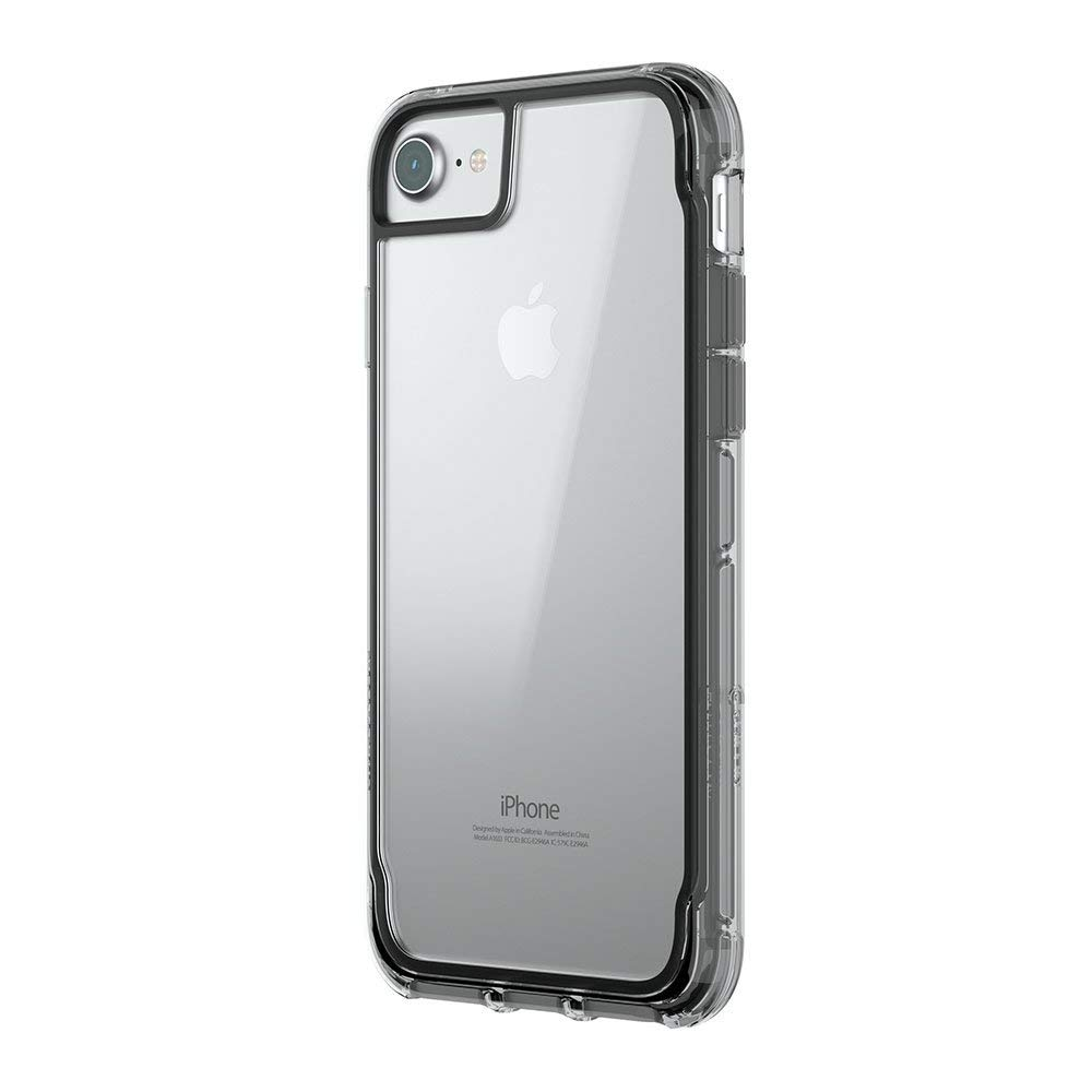 Griffin Survivor Clear Case - хибриден удароустойчив кейс за iPhone 8, iPhone 7, iPhone 6S, iPhone 6 (черен)
