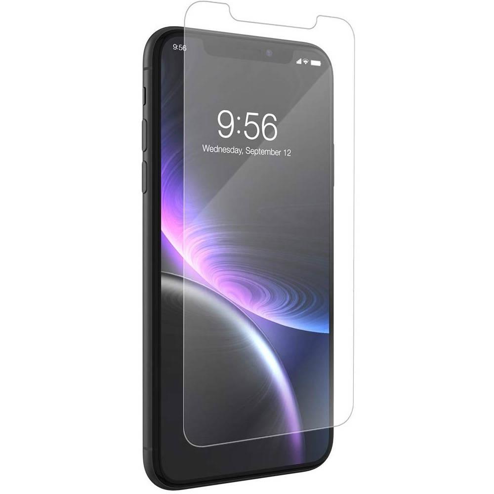 Zagg Invisible Shield Glass+ - калено стъклено защитно покритие за дисплея на iPhone XR (прозрачен)