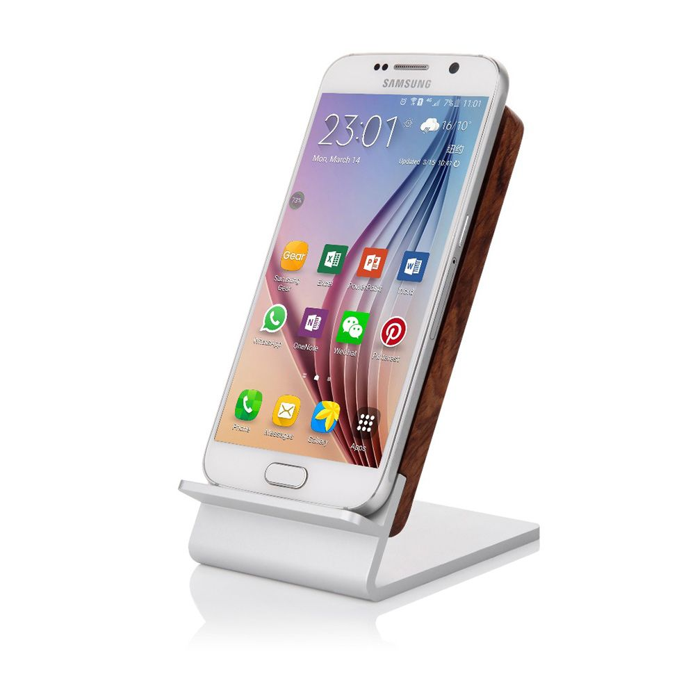 Seenda Qi Wireless Charging Wood Stand with LED Light