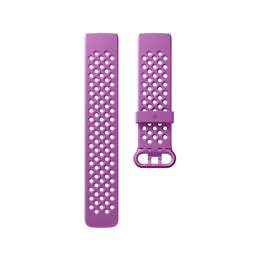 Fitbit Charge 3 Accessory Sport Band Large - еластична силиконова каишка за Fitbit Charge 3 (лилав)
