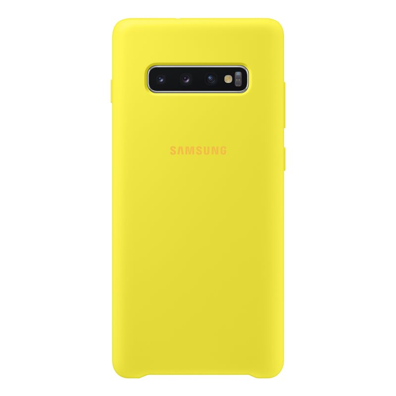 Samsung Silicone Cover Case EF-PG975TY  for Samsung Galaxy S10 Plus (yellow)