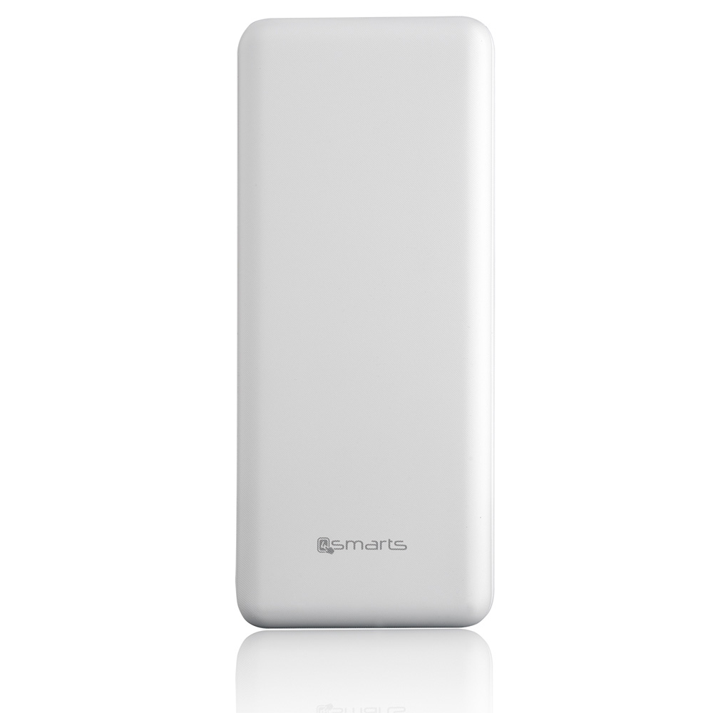 4smarts Power Bank VoltHub Go 20000 mAh - външна батерия с 2 USB изхода (бял)