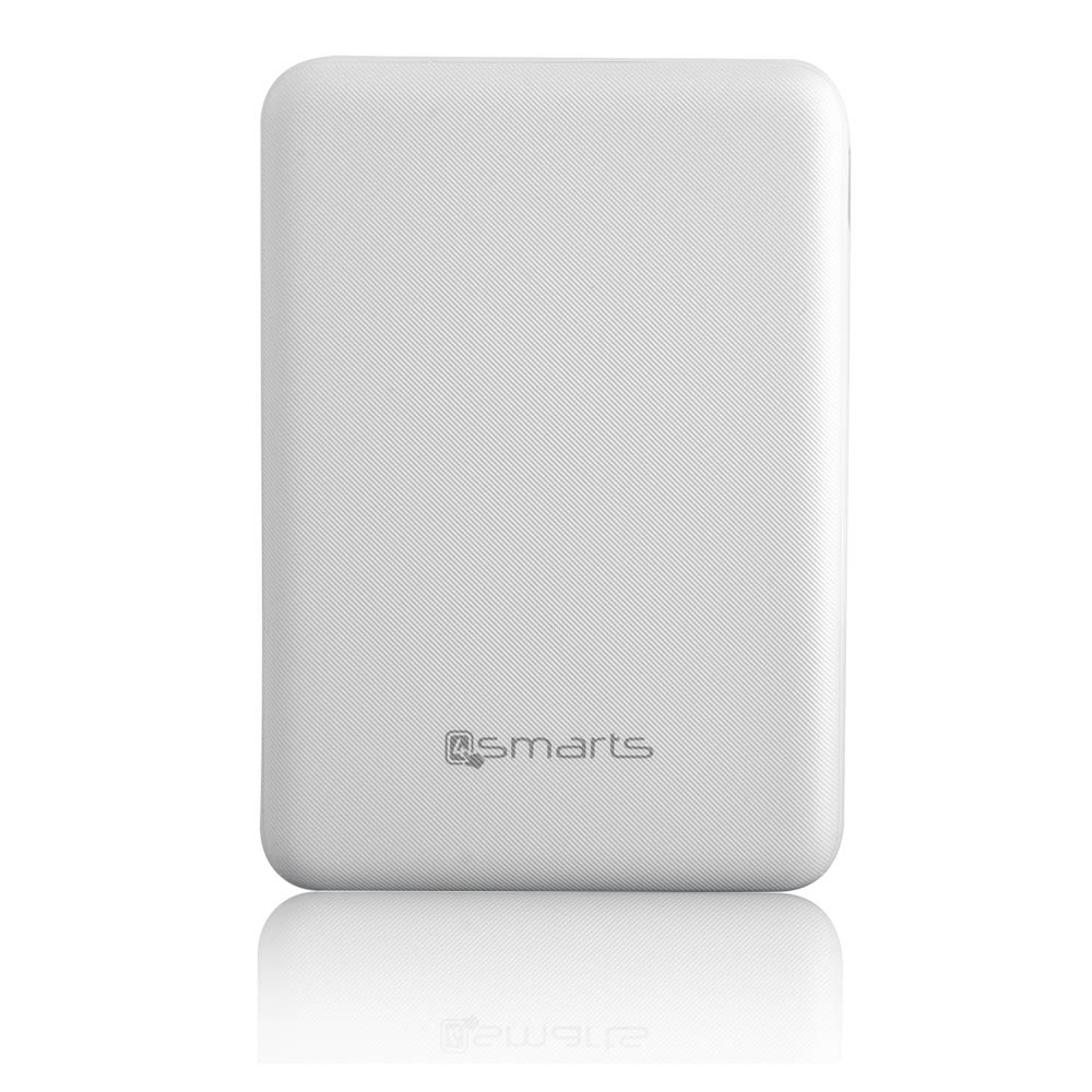 4smarts Power Bank VoltHub Go 5000 mAh - външна батерия с USB изход (бял)