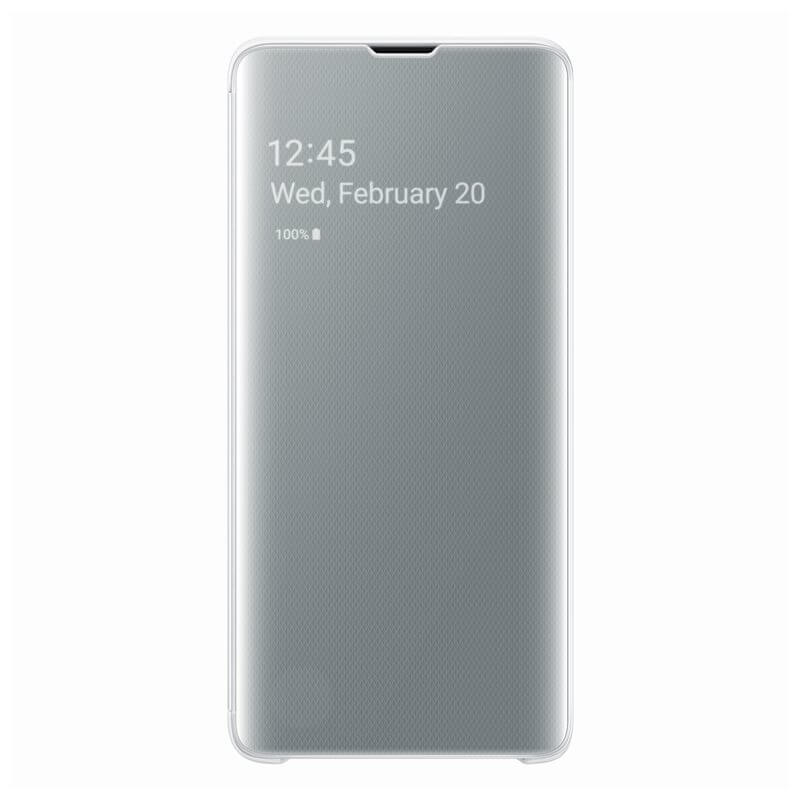 Samsung Clear View Cover EF-ZG973CW for Galaxy S10 (white-gray)