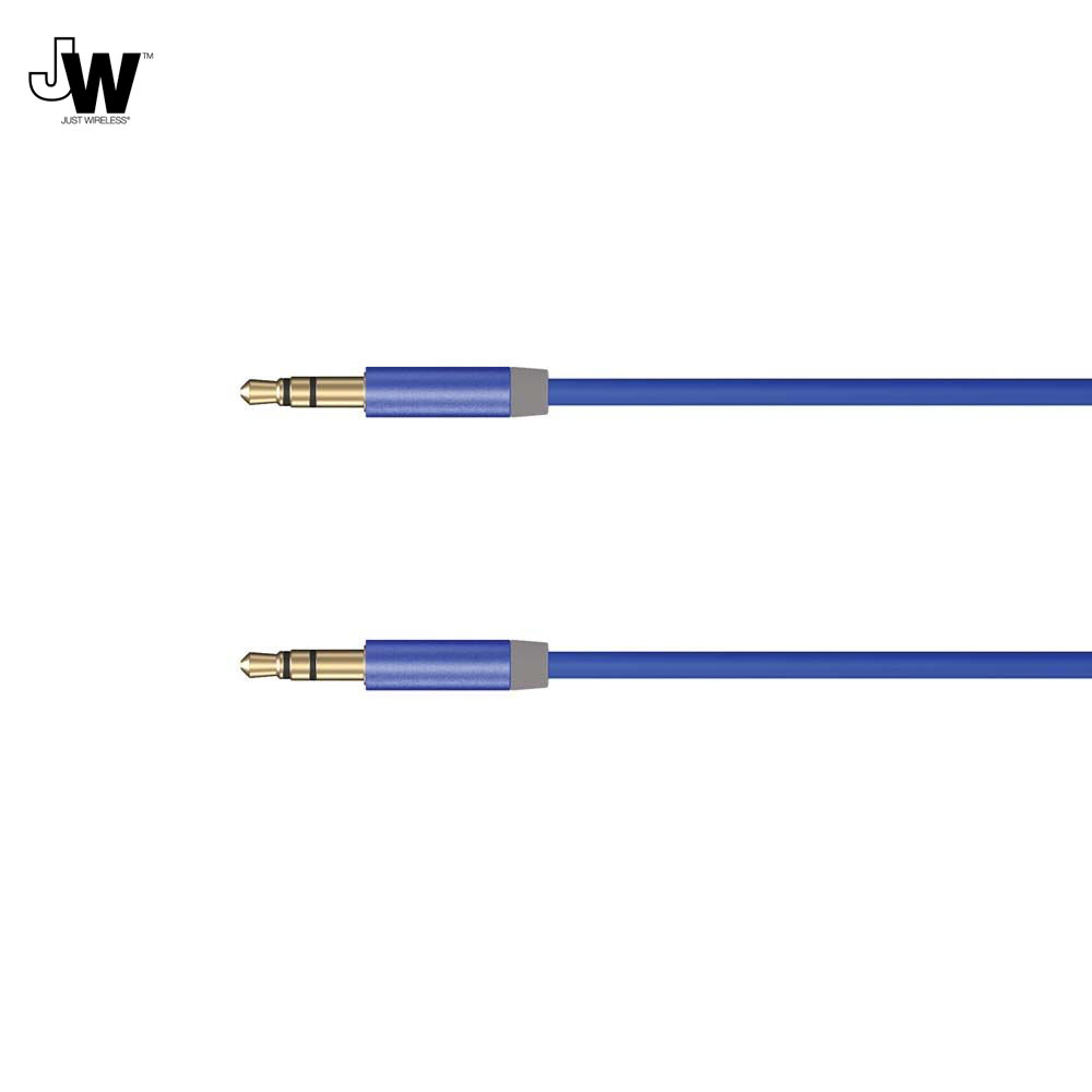 Just Wireless Aux Audio Cable (180 cm) (blue)