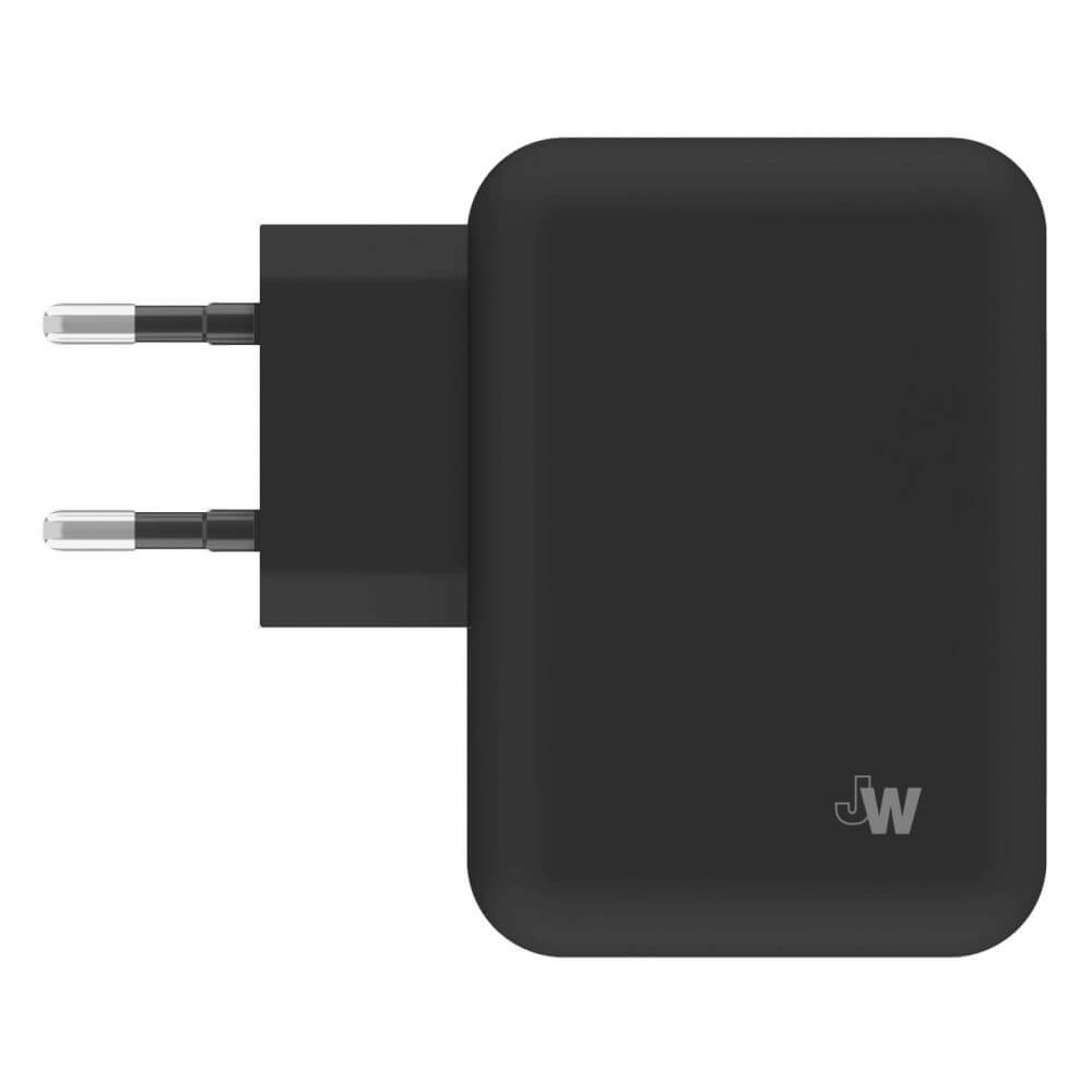 Just Wireless Mains Charger 4.2A EU - 2 x USB ports (black)