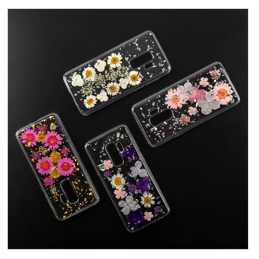 4smarts Soft Cover Glamour Bouquet - силиконов (TPU) калъф с цветя за Samsung Galaxy S10 Plus (прозрачен-бял)