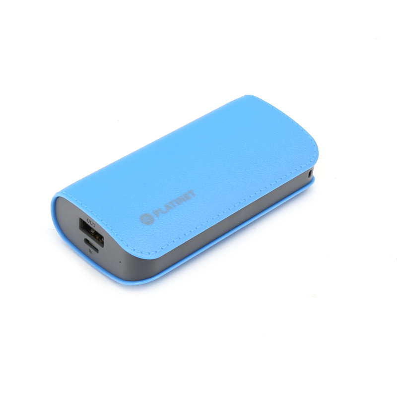 Platinet Power Bank Leather 5200 mAh (blue)